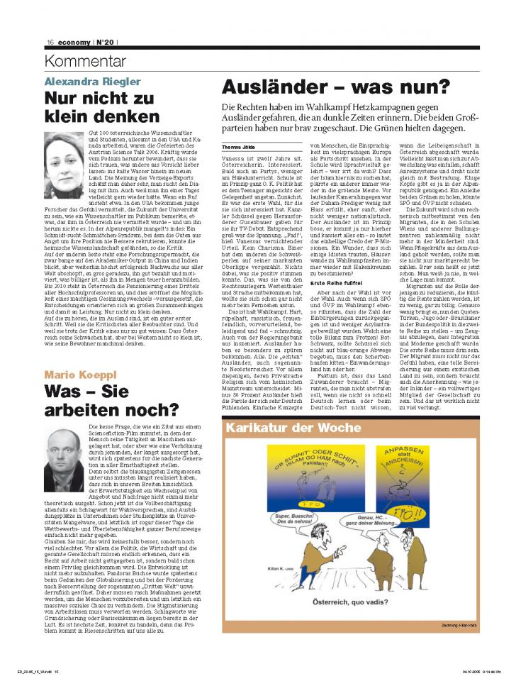 Heft Ausgabe Nr. 20 - Seite 16