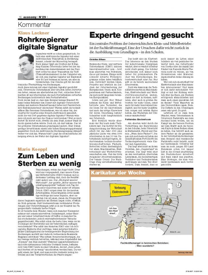 Heft Ausgabe Nr. 29 - Seite 16
